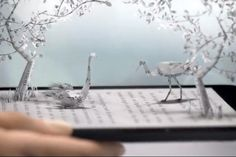 How nice to see paper arts melded with technolgy - beautiful ad - An Origami-Inspired Kindle Ad Uses Clever Animation to Bring e-Reading to Life - Video - Creativity Online