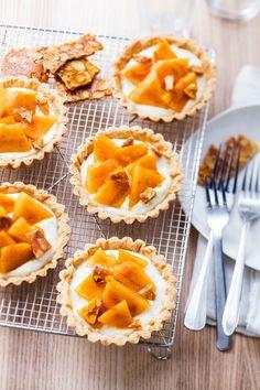 Tartelettes au melon et nougatine