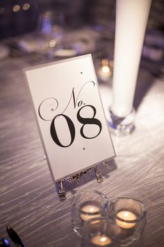 Clean and sophisticated wedding table number