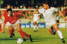 Vitor Paneira em 1991/92, num confronto com o Vitória de Guimarães.