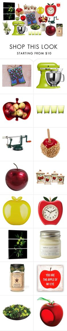 """Climb Up My Apple Tree"" by vsabrew on Polyvore featuring interior, interiors, interior design, home, home decor, interior decorating, KitchenAid, Sagaform, Mark & Graham and Grunwerg"