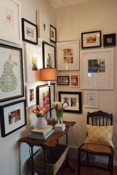 gallery wall, frame grouping. from emilyaclark