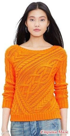 Пуловер спицами от Ralph Lauren вяжем вместе он лайн - Вяжем вместе он-лайн - Страна Мам