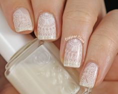 Messy Mansion Lace Nail Stamping