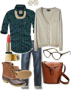 """""""Weekend Attire"""" on Polyvore #LLBEAN BOOTS #beanboots"""