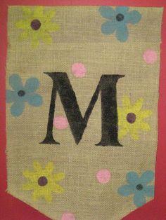 Spring Burlap Garden flag by Burlapulous on Etsy, $18.00