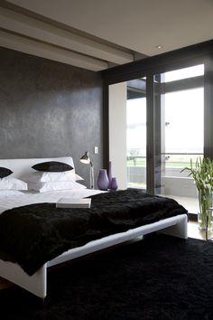 House Serengeti | Main Bedroom |  Nico van der Meulen Architects #Bedroom #Black #Contemporary