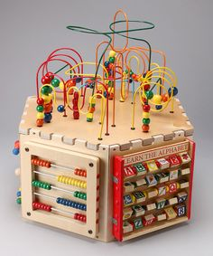 Wire Bead Maze Play Cube by Anatex ... This would be awesome ... kind of pricey though.