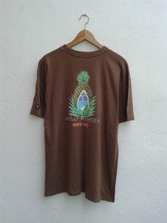 Vintage 90s Helly Hansen Yatch Pineapple Graphic Sailing Gear Pocket T-Shirt Size L by BubaGumpBudu on Etsy