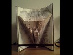 Book folding pattern for a Scottish Highland Cow +free tutorial by BookFoldingForever on Etsy