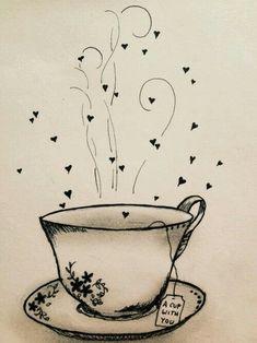 New party poster illustration tea time 59 Ideas Tee Kunst, Tea Quotes, Cuppa Tea, Tea Art, My Cup Of Tea, Coffee Art, Tea Time, Tea Cups, Doodles