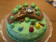 Torta al cioccolato con angry birds. Annalisacrea
