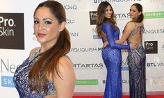 Casey Batchelor and Pascal Craymer opt for stunning backless gowns