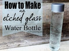 Here is a link for directions: http://www.creativegreenliving.com/2013/09/how-to-make-etched-glass-water-bottle.html. More craft ideas to make and sell by clicking here. Comments comments
