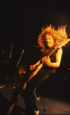 JH, back in the day, playing his Gibson Flying V
