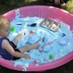 Crafty kids & other fun ideas Cheap Summer Fun: 10 Alternative Uses for Your Plastic Kiddie Pool Pool Activities, Birthday Activities, Infant Activities, Birthday Ideas, Fun Activities For Toddlers, Third Birthday, Plastic Baby Pool, Kiddie Pool Games, Apartment Therapy