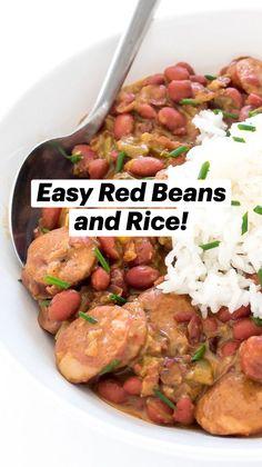 Beans Recipes, Cajun Recipes, Sausage Recipes, Quick Recipes, Veggie Recipes, Mexican Food Recipes, Vegetarian Recipes, Dinner Recipes, Cooking Recipes