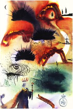 'The Lobster's Quadrille' - Alice's Adventures in Wonderland, illustrated by Salvador Dali, 1969, williambennettgallery #Illustration #Alice_in_Wonderland #Salvador_Dali #williambennettgallery