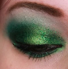 green makeup-great for st Patrick's day