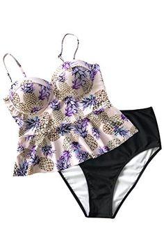f473f8908f New Cupshe Fashion Womenโ€™s Always Be You Falbala Bikini Set Beach Swimwear