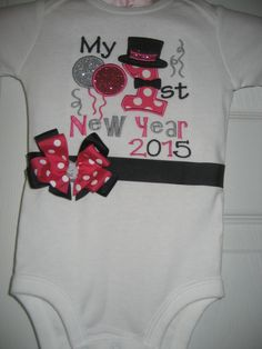 Boutique First New Years 2015 with bow and by PolkaDotCloset