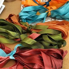 Shipping an order for shimmering ribbon. Gorgeous colors. #ribbon #gocolorcrazy #color