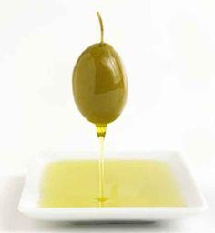 Dish full of olive oil