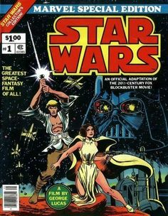 I'm offering several different iterations of Marvel's movie adaptation of the Star Wars film in comics. The Marvel Star Wars series was the first ever. Star Wars Comic Books, Star Wars Comics, Bd Comics, Comic Books Art, Star Wars Film, Star Wars Art, Walt Disney Pictures, Comics Vintage, Stormtrooper