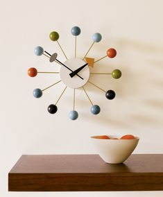 Nelson Ball Clock in multicolor – Designed by George Nelson