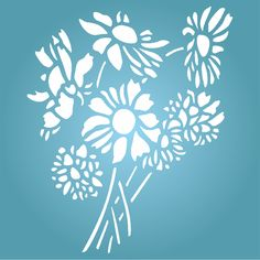 Daisy Flower Stencil - 5 x 6 inch (S) - Reusable Flora Bouquet Bunch Wall Stencils for Painting - Use on Paper Projects Scrapbook Journal Walls Floors Fabric Furniture Glass Wood etc. Painting Templates, Stencil Painting, Wallpaper Stencil, Woman Painting, Amazon Art, Floral Bouquets, Sewing Crafts, Daisy, Flower Stencils