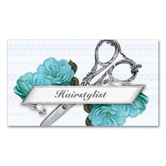 vintage floral hairstylist hair stylist purple business card template