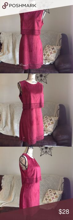 NWOT Ya Los Angeles Popover dress size L Gorgeous Ya Los Angeles sleeveless popover dress in maroon color with laser cutouts in front. Zero flaws. Very soft velvety material. Super fast same day or next business day shipping!! Ya Los Angeles Dresses