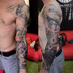 """@Elvin Matos Matos Yong's photo: """"One more session of white should be done on this sleeve."""""""