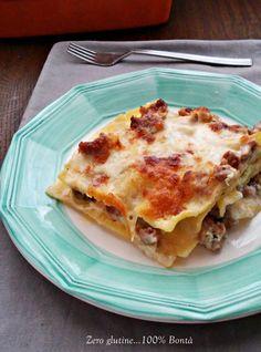 Lasagne con salsiccia e funghi