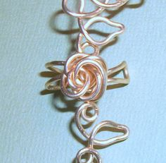 Summer Sterling Silver Rose Vine Ear Cuff by WickedlyWired on Etsy, $43.60