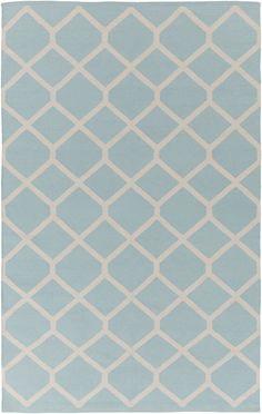 Vogue Elizabeth Light Blue/Ivory Area Rug