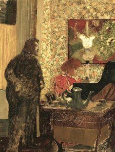 Jeune femme au piano fran ois gauzi 1904 artful for Chaise 98 edouard francois