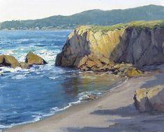 Granite Point by Kathleen Dunphy Oil ~ 16 x 20 Watercolor Landscape, Landscape Art, Landscape Paintings, Landscape Photography, Spiritual Paintings, Ocean Scenes, Nature Drawing, Sea Art, Coastal Art