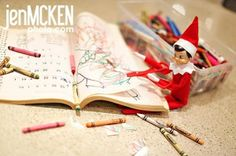 another Elf on the Shelf idea by summer