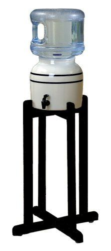 Porcelain Water Dispenser with Black Stripes and Black Wood Floor Stand by For Your Water, http://www.amazon.com/dp/B000U8EJKO/ref=cm_sw_r_pi_dp_I7hBrb131XWC1