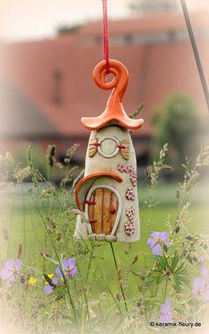 keramik fleury windlicht als pilzhaus f r den garten. Black Bedroom Furniture Sets. Home Design Ideas