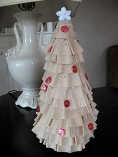 Coffee filters tree - great for little kids because the filters are pre-cut and hard to tear.
