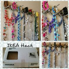 IKEA Variera Hack Instant jewelry holder!