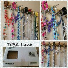 IKEA Variera Hack Instant jewelry holder!