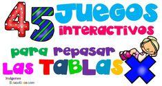 COLECCIÓN DE juegos interactivos para repasar las tablas de multiplicar
