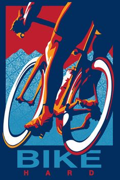 Bike Hard Art Print by Sassan Filsoof Easyart.com http://www.boxerbranddesign.com/blog/
