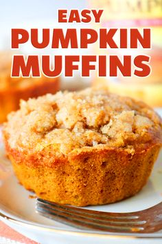 The wait for Pumpkin Spice is over and there's officially no better way to inhale it than via this Easy Pumpkin Muffin Recipe! Baking up nice and fluffy, with a moist and tender crumb on the inside, and a buttery cinnamon-sugar topping on the outside, this fall muffin recipe bakes up to absolute perfection. #pumpkin #pumpkinrecipes #pumpkinmuffins #muffins #muffinrecipe #fallrecipes #fallbaking #fall