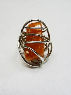 Star Twisted Metal Stone Ring