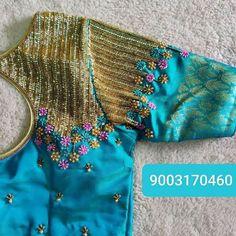 Pattu Saree Blouse Designs, Blouse Designs Silk, Designer Blouse Patterns, Bridal Blouse Designs, Hand Work Blouse Design, Simple Blouse Designs, Stylish Blouse Design, Aari Embroidery, Maggam Works