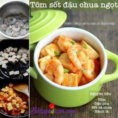 Tôm sốt đậu chua ngọt-Sổ tay nấu ăn Món ngon mỗi ngày Học nấu ăn ngon
